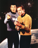 Star Trek Spock and Captain Kirk TV Poster Print