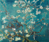 Vincent Van Gogh Turquoise Almond Branches in Bloom, San Remy Art Poster Print Mini Poster