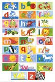 Animal Alphabet Learn Your Letters Art Print Poster