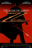 The Mask of Zorro Movie, Silhouette, Original Poster Print