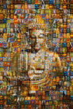 Buddha (Mosaic) Art Poster Print