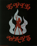Santana (Evil Ways Lyrics) Music Poster Print