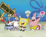 Buy SpongeBob SquarePants Cast on Ocean Floor TV Poster Print at AllPosters.com