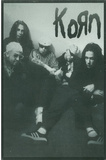 Korn Group B&W Music Postcard Print