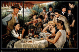 George Bungarda Lunch on the Party Boat Art Print Poster