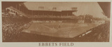 New York Ebbets Field B&W Vintage Photo Sports Poster Print