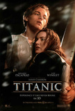 Titanic in 3-D Movie One Sheet Leonardo DiCaprio Kate Winslet Double-Sided Poster Print