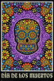 Dia de los Muertos Day of the Dead Art Poster Print Poster