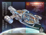 Firefly Serenity Aft Cutaway View TV Poster Print