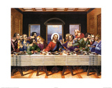 Buy Leonardo Da Vinci (Last Supper) Art Poster Print at AllPosters.com