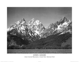 Ansel Adams Snow On Mountains Teton Art Print Poster