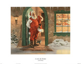 Tom Browning It Feels Like Christmas Art Print Poster
