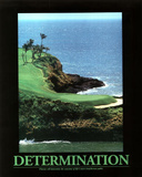 Determination (Golf) Art Poster Print