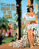 Cuba Holiday Isle of the Tropics Vintage Ad Art Print Poster
