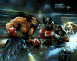 Dogs Boxing (Sports) Art Print Poster