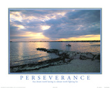 Perseverance motivational Dream Sunset Art Print Poster