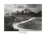 Buy Snake River Grand Tetons Ansel Adams ART PRINT POSTER at AllPosters.com