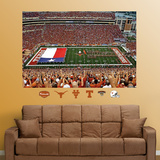 Texas Darrell K. Royal Stadium mural  Texas Flag