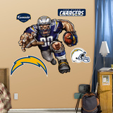 San Diego Chargers Die Cut RB Liquid Blue