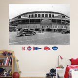 Chicago Cubs Wrigley Field Historical Exterior Stadium Mural