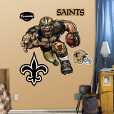 New Orleans Saints Die Cut RB Liquid Blue