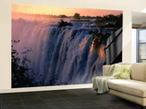 Victoria Falls at Sunset from Zambia, Victoria Falls, Zambia