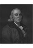 Benjamin Franklin (Portrait, Engraving) Art Poster Print Art Poster Print