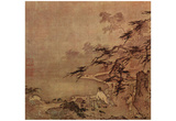 Ma Yuan (Scholar with a servant on a terrace) Art Poster Print