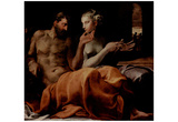 Primaticcio and Francesco (Odysseus and Penelope) Art Poster Print