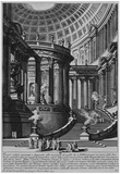 Giovanni Battista Piranesi (Ancient temples, designed and painted in the style of ancient Vestatemp