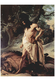 Francesco Hayez (Samson and the Lion) Art Poster Print
