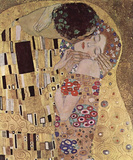 Gustav Klimt (The Kiss, Le Baiser, Detail) Art Poster Print