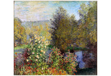 Claude Monet (Corner of the Garden at Montgeron) Art Poster Print