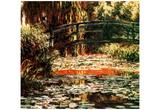Claude Monet (Le Pont Japonais a Giverny) Art Poster Print