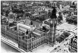 Big Ben and Houses of Parliament Archival Photo Poster