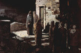Christ Enters Garden of Gethsemene by Ge Realist Art Print Poster