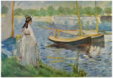 Edouard Manet (Banks of the Seine at Argenteuil) Art Poster Print