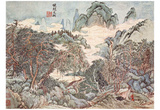 Wang Shih-min (Landscape in the style of Chao Meng-fu) Art Poster Print