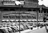 Comiskey Park Chicago Front Gates Archival Photo Sports Poster