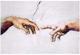 Buy Michelangelo (Creation of Adam, Inset) Art Poster Print at AllPosters.com