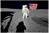 Buy NASA Astronaut  Spacewalk Moon Photo Poster Print at AllPosters.com
