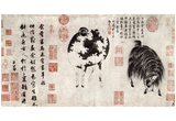 Chao Meng-fu (Geiss Bock and sheep) Art Poster Print