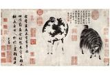 Chao Meng-fu (Geiss Bock and sheep) Art Poster Print