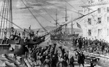 Boston Tea Party (Unloading Boat) Art Poster Print
