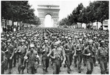 American Soldiers in Paris WWII Archival Photo Poster Print