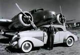 Amelia Earhart with Plane and Car Archival Photo Poster Print