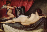 Diego Velazquez (Venus with Mirror (Rokeby Venus)) Art Poster Print