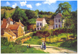 Camille Pissarro Le Hermitage at Pontoise Art Print Poster