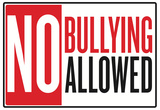 No Bullying Allowed Classroom Poster Poster