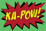 Ka-Pow! Comic Pop-Art Art Print Poster